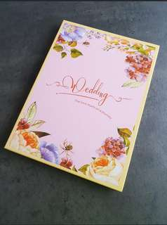 Wedding guest book signing signature book