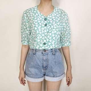 Greeny Pattern Blouse