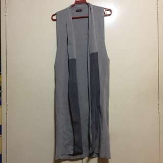 SM Woman Long gray cardigan L