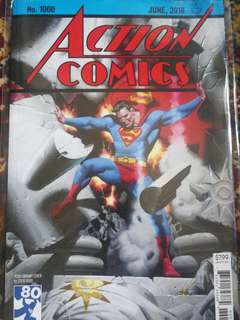 Action Comics, #1000, Superman, Steve Rude cover.