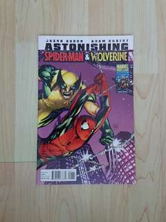 Marvel Comics Astonishing Wolverine and Spider-Man 1 Near Mint Condition
