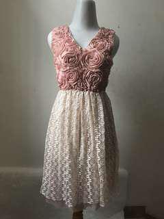 Rose Lacey Korean Dress