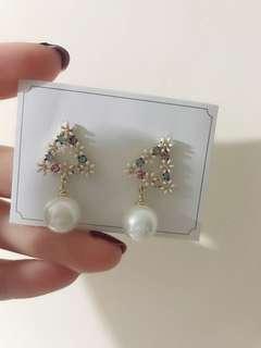 優雅珍珠耳環