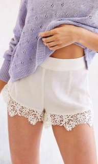 Brand New Forever21 White Lace Shorts