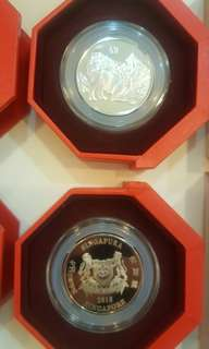 Singapore Mint 2018 Year of Dog Coin