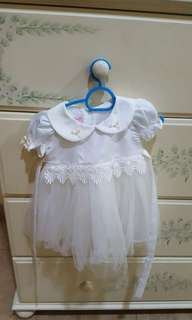 Aqiqah set (dress, shoes & headband)
