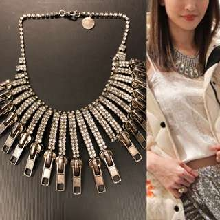 Tom Bins crystal zippers necklace