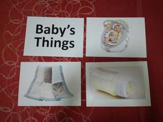 Baby's things -  BN Flashcards Glenn Doman and Shichida