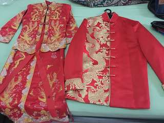 Traditional Chinese Wedding Costume (Man + Woman)