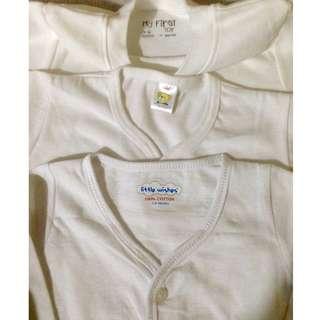 Sale! Newborn White Tops (Shirt/Longsleeve)for Baby Boy/ Girl