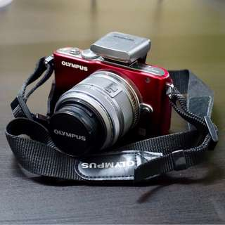 Olympus E-PL3 (red) with Accessories