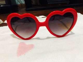 Forever 21 Heart Sunglasses