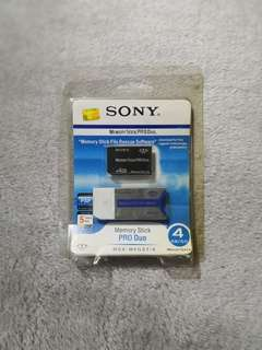 Sony Memory Stick PRO Duo 4GB for PSP