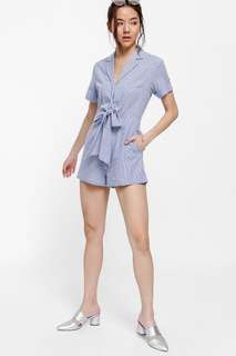 Fladyn Striped Knot Front Playsuit