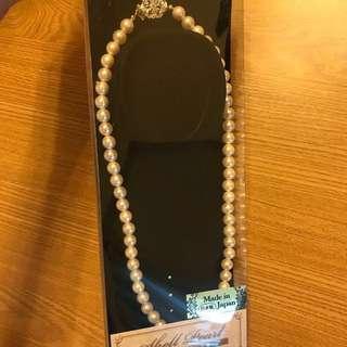 日本製造🇯🇵日本購入新娘子襯婚紗奶奶媽媽群陳珍珠鍊超靚個扣禮物🎁 花球晚裝婚紗