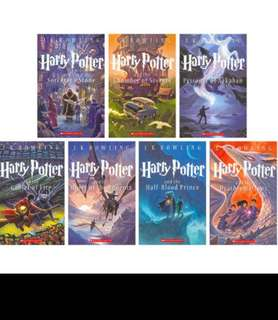 🚚 Harry Potter 7 books original edition commermorative US version 1-7 Harry Potter materpiece books