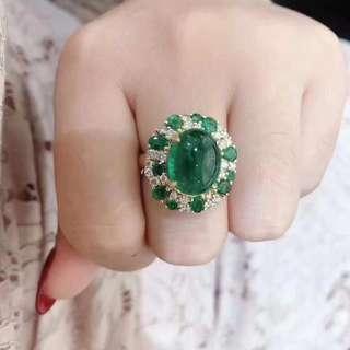 18k主石7.34ct副石1.17ct鑽石0.69ct戒指