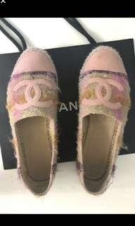 Chanel 粉紅 草鞋 espadrilles