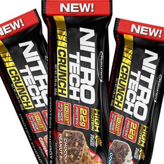 MUSCLETECH NITROTECH CRUNCH BAR 65g nitrotech bar satuan