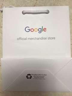 Google store paper bag 紙袋