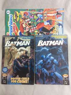 Batman Hush #32 & #36 w/ free DC Super Hero Girls Harley Quinn Comic Book Set