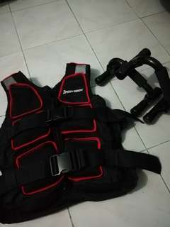 weighted vest with push up bar