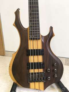 5-string bass ESP LTD F-5E series Solidbody Natural Satin