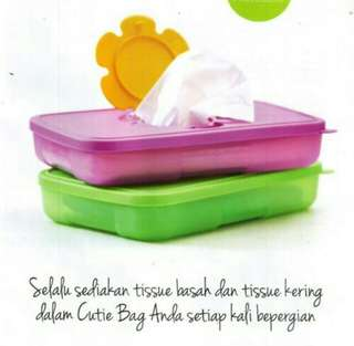 Tempat tissue tupperware