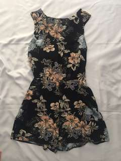 Miss Selfridge Black Floral Romper