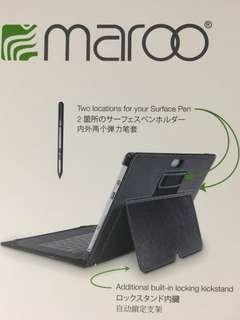 Surface 3 Black Premium Leather Folio
