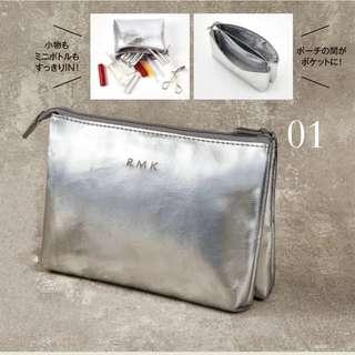 &ROSY 日本雜誌 RMK 銀色收納袋 化妝袋