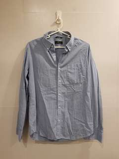 Men's Longsleeves Shirt Checkered Blue