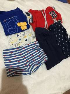 Assorted baby boy's clothes