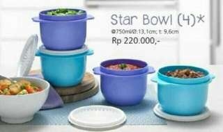 Star bowl mangkok tupperware