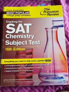 SAT Chemistry 15th edition