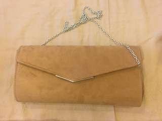 Parisian Brown Clutch Bag For Sale