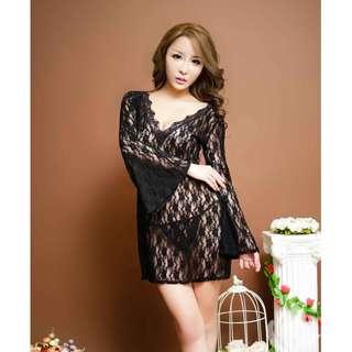 LINGERIE - 7174 BLACK DRESS