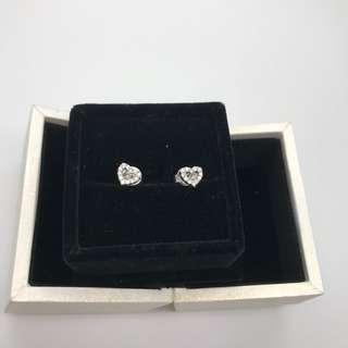 心形 鑽石耳環 Mabelle