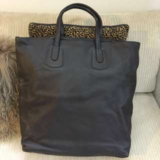 Gucci Brown Leather Tote Bag (Large)
