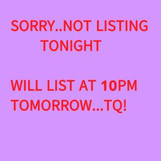 Not Listing