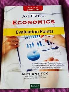 A LEVEL Economics Evaluation points