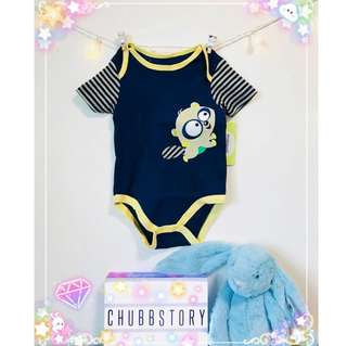 👶🏻 9M RACCOON BODYSUIT ONESIE SHORT SLEEVES BABY CLOTHING UNISEX KIDS CASUAL