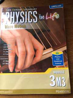 Physics in Life Wave Motion 3M3 DSE