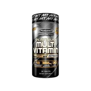 MT Platinum Multi Vitamin 90 caps all in one vit A C D E B6 B12 ZINC