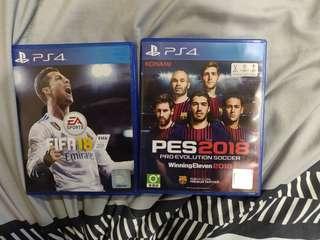 FIFA 18 PES 18 R3 PS4 Playstation 4