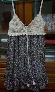 🚚 雪紡編織上衣洋裝