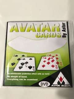 Avatar Cards - Astor prediction magic trick