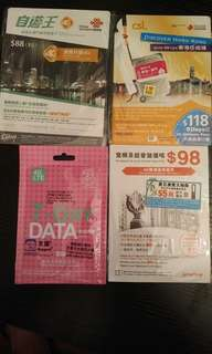 Hong Kong 7-Day Sim card ($60 each)
