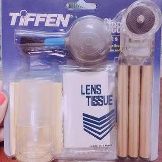 🚚 全新TIFFEN相機鏡頭保養清潔工具組 刷子 過濾器 專門清潔布 拭鏡布 清潔液