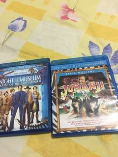 Night at the Museum Part 2 and Jumanji Made in USA Bluray